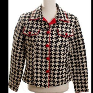 ♥️2 for $15 3 Sister's B&W Hounds tooth Jacket